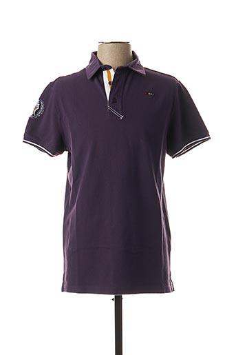 Polo manches courtes violet HORS CATEGORIE pour homme