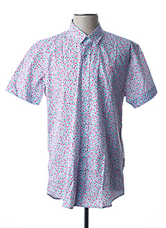 Chemise manches courtes rose CAMBERABERO pour homme