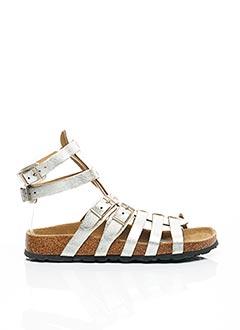 Sandales/Nu pieds gris BETULA pour femme