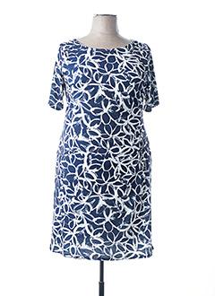 Robe mi-longue bleu HAJO pour femme