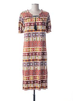Robe mi-longue marron HAJO pour femme