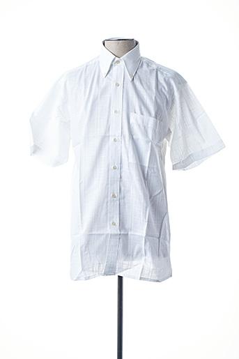 Chemise manches courtes blanc HORIZON pour homme