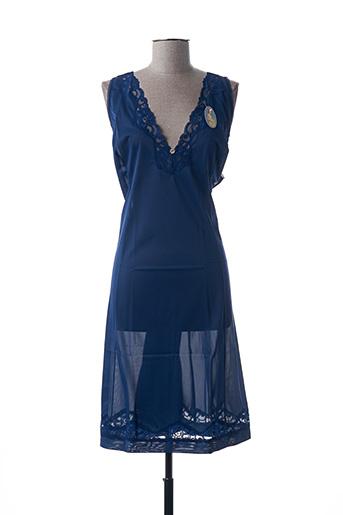 Jupon /Fond de robe bleu ÉLIANE pour femme