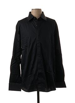 Chemise manches longues noir GREGE CREATION pour homme