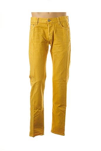 Jeans coupe slim jaune CARE LABEL pour homme