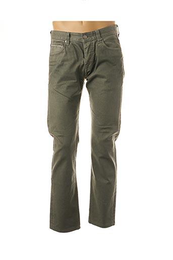 Jeans coupe slim vert CARE LABEL pour homme
