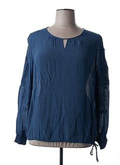 Blouse manches longues bleu BRANDTEX pour femme