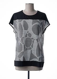 T-shirt manches courtes noir BRANDTEX pour femme
