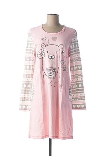Chemise de nuit rose VAMP pour femme
