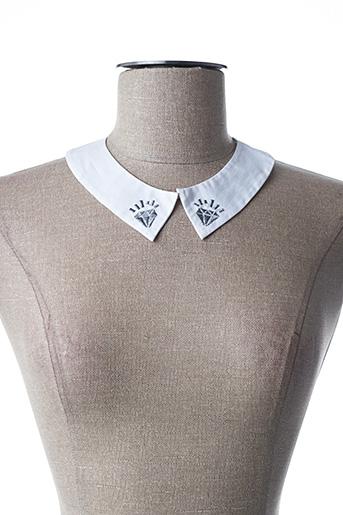 Col / Tour de cou blanc I.CODE (By IKKS) pour femme