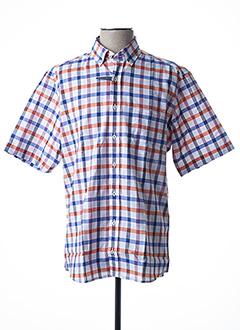 Chemise manches courtes orange ETERNA pour homme