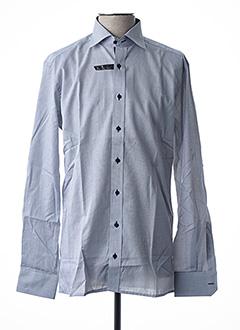 Chemise manches longues gris ETERNA pour homme