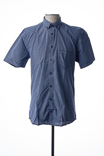 Chemise manches courtes bleu CALAMAR pour homme