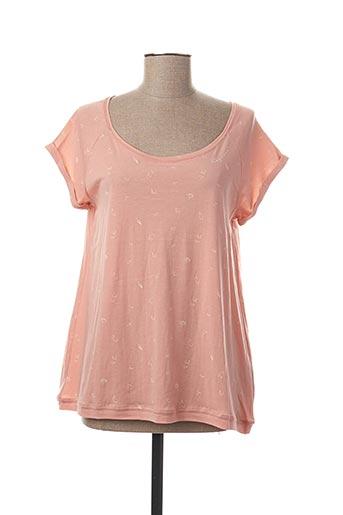 T-shirt manches courtes rose RAGWEAR pour femme