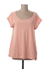 T-shirt manches courtes rose RAGWEAR pour femme seconde vue