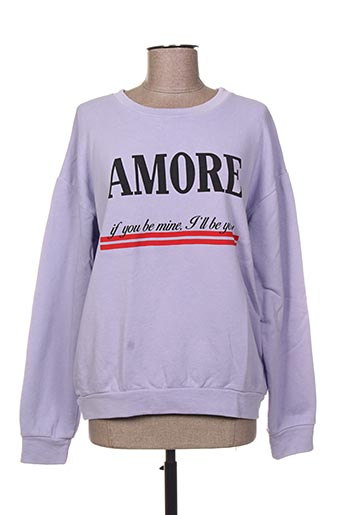 Sweat-shirt violet LA FEE MARABOUTEE pour femme
