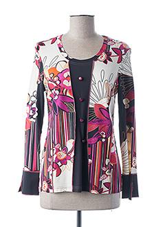 T-shirt manches longues rose FRANCE RIVOIRE pour femme