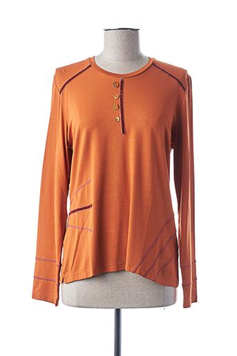 T-shirt manches longues orange IMPULSION pour femme