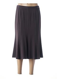 Jupe mi-longue marron FRANCE RIVOIRE pour femme