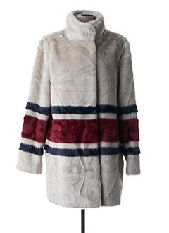 Manteau long beige LAUREN VIDAL pour femme