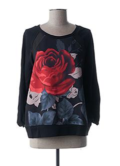 Sweat-shirt noir PAUL BRIAL pour femme