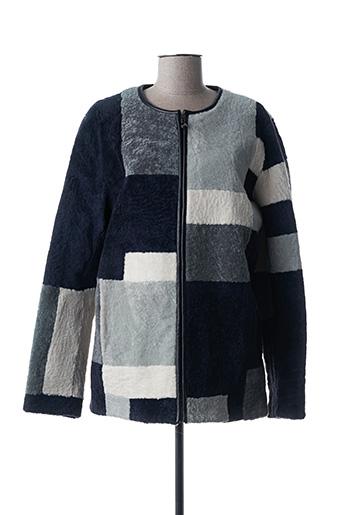 Manteau long bleu INTUITION pour femme