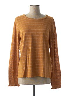 Pull col rond marron SO SWEET pour femme