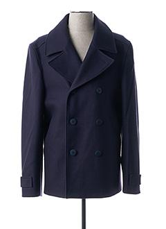 Manteau court bleu BRUNO SAINT HILAIRE pour homme
