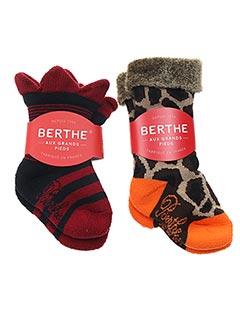 Chaussettes rouge BERTHE AUX GRANDS PIEDS pour fille