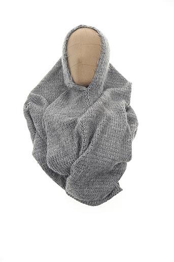 Col / Tour de cou gris LOLLIPOPS pour femme