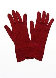 Gants rouge BERTHE AUX GRANDS PIEDS pour femme