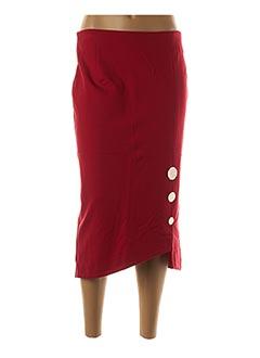 Jupe mi-longue rouge EDAS pour femme