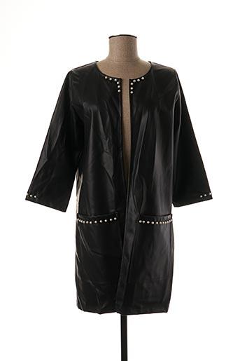 Veste simili cuir noir LOLITAS & LOLOS pour femme