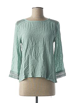 Blouse manches longues vert BECKARO pour fille