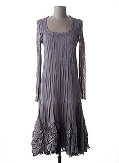 Robe mi-longue marron FRED SABATIER pour femme