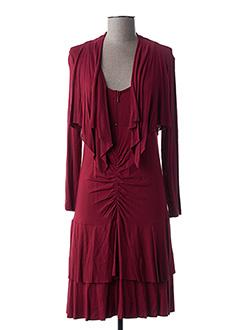 Robe mi-longue rouge MALOKA pour femme