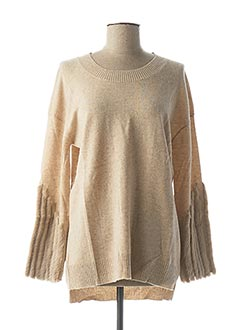 Pull col rond beige MAX & MOI pour femme