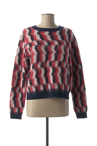 Pull col rond rouge I BLUES pour femme