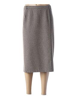 Jupe mi-longue beige GUY DUBOUIS pour femme