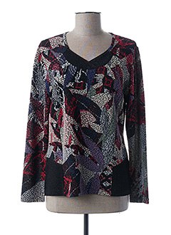 Pull col V rouge GUY DUBOUIS pour femme