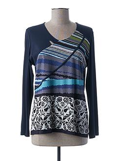 T-shirt manches longues bleu GUY DUBOUIS pour femme