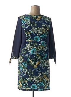 Robe mi-longue bleu FARUK pour femme