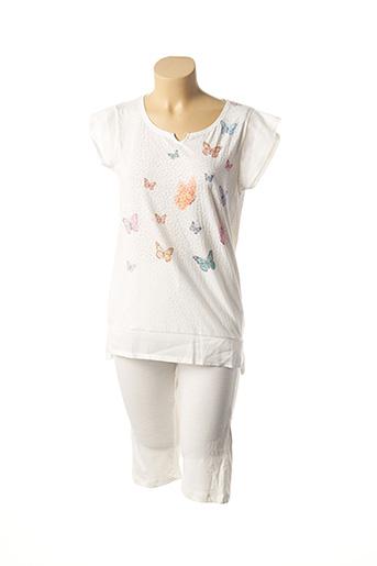 Pyjama blanc CHRISTIAN CANE pour femme