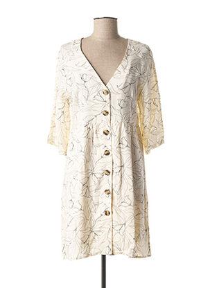 Robe mi-longue beige GRACE & MILA pour femme