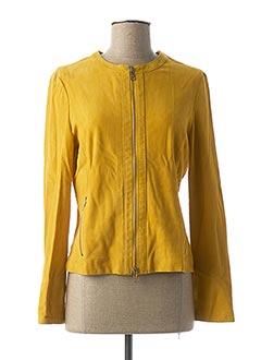 Veste en cuir jaune LIU JO pour femme