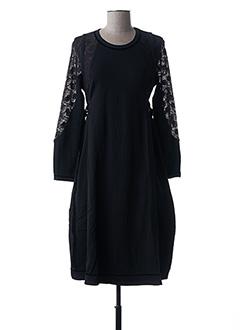 Robe mi-longue noir HIGH pour femme