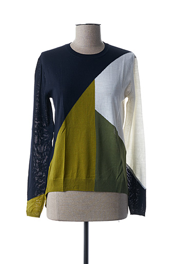 Pull col rond vert HIGH pour femme