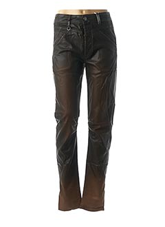 Pantalon chic marron HIGH pour femme
