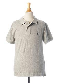 Polo manches courtes gris RALPH LAUREN pour garçon