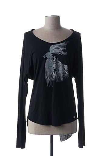 T-shirt manches longues noir FORNARINA pour femme